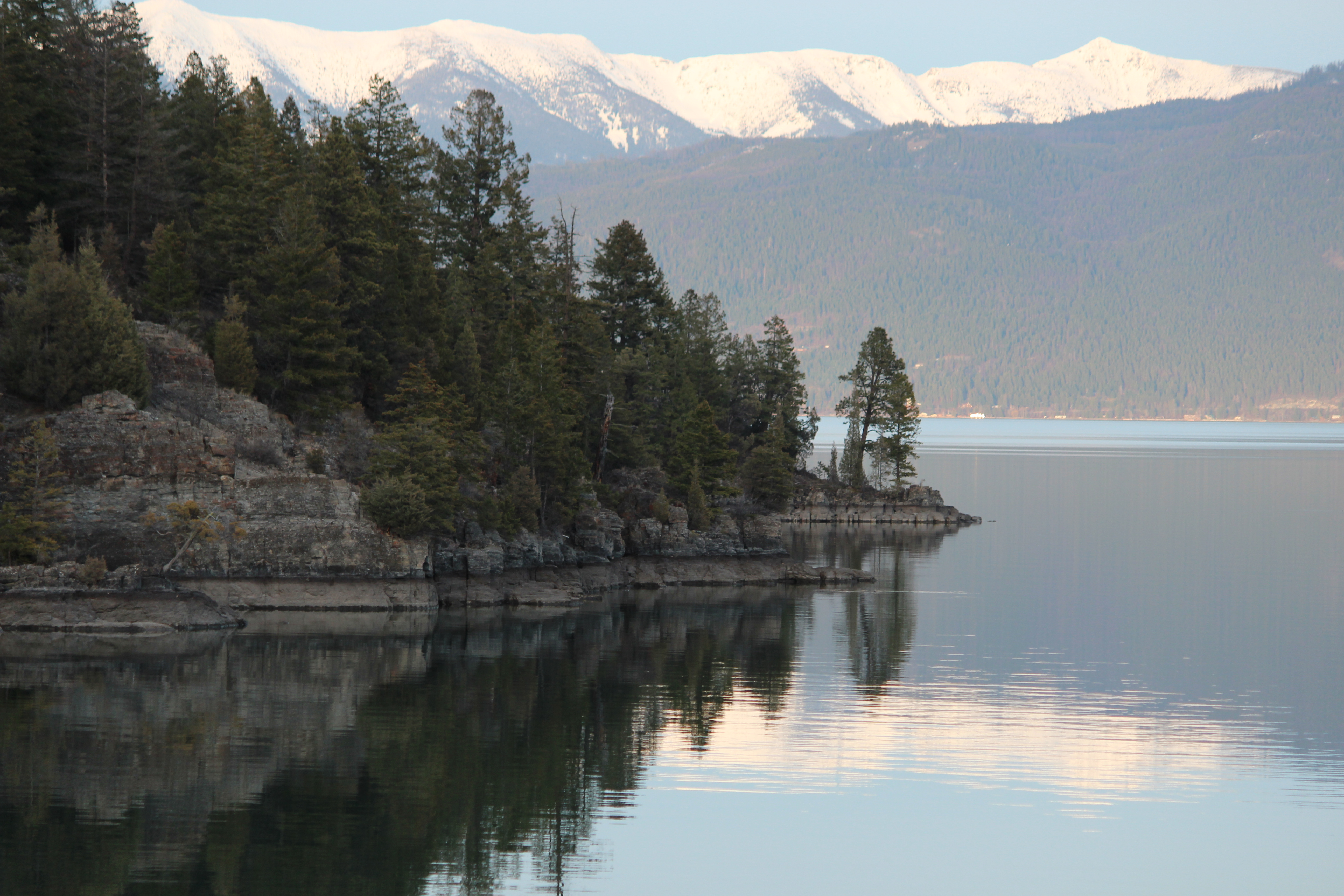 One of the places I go to get quiet-Flathead Lake in Montana. Wouldn't it be great if we could all be clear like this?